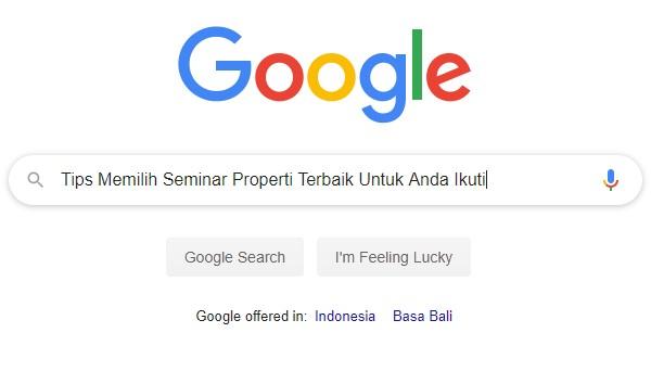 Seminar properti